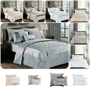3 Piece Atlanta Quilted Bedspread Throw Comforter with Pillow Shams Bedding Set