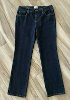St. Johns Bay Womens Straight Leg Jeans Blue Dark Wash Stretch Petites 10P