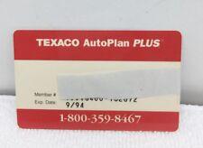TEXACO AutoPlan PLUS Membership Card Vintage 1993