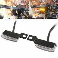 2Pcs Black Mini LED Motorcycle Turn Signals Blinkers Front Rear Peg Lamp Lights