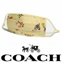 NWT COACH ADULT UNICORN FLORAL FACE MASK