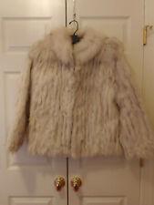 Women Saga Norway Blue Fox Fur Car Short Coat Jacket Size L