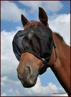 AS Fliegenmaske, Fliegenschutzhaube Sausewind Comfort ohne Ohren, schw, S Pony