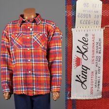 4XL Vintage Flannel Shirt Deadstock 1960s 60s Plaid XXXL Lumberjack NOS