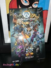 SDCC Comic Con 2017 Overwatch Anthology Blizzard Poster SIGNED