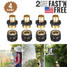 4 Pairs Garden Hose Quick Connect Water Hose Fit Brass Female Male Connector Set