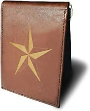 Military Force Army Star Regiment Money Clip RFID Blocking Leather Men Wallet