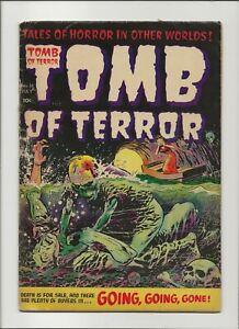 Tomb of Terror 16 VG- 3.5 Strangulation GGA Nostrand Art Golden Age Horror 1954