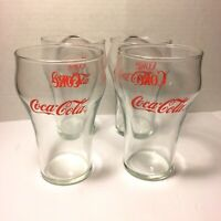 "Vintage Coca Cola 5"" Fountain Glasses Set Of 4 - Coca - Cola Logo ( Pre-Owned )"