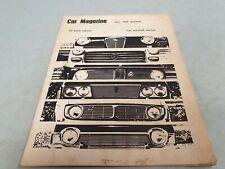1968 Car Comparison Mag - BMW Ford Corsair Humber Sceptre Peugeot Volvo 18/85