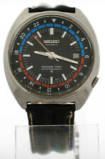 Vintage 1970s Seiko Navigator Timer GMT Watch 6117-6410 Pilot Date Automatic