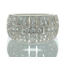 Joseph Esposito Diamonique Solid 925 Sterling Silver Cross Band Ring Sz-6. '