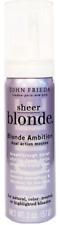 3 x John Frieda Sheer Blonde Ambition Dual Action Violet Mousse Hair Foam