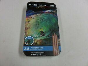 PRISMACOLOR PREMIER 36 WATERCOLOR COLORED PENCILS BRAND NEW UNOPENED TIN
