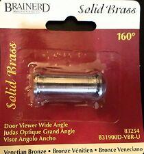 Brainerd - solid brass door viewer wide angle (peep hole)