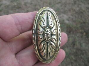 ancienne poignée bronze de porte.  LR . no serrure no clef no clé. 6 x 3,1cm