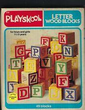 PLAYSKOOL , letter wood blocks, # 232