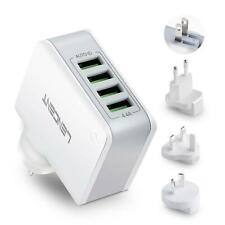 Lencent USB Charger Plug 4-Port Universal Travel Adaptor 22W/5V Worldwide Travel