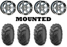 Kit 4 Maxxis Zilla Tires 26x9-12/26x11-12 on ITP SS212 Machined Wheels IRS