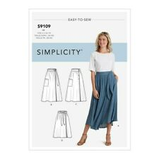 Simplicity R10498 EASY Wrap Skirts with Tie Options Sz 6-24 UNCUT Pattern S9109
