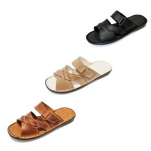 KS142 Herren Schuhe Sandalen Pantoletten aus Leder für den Sommer Sommerschuhe