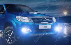White LED Halo Fog Lamp Driving Light Kit for 2014-2018 Toyota Hilux Invincible