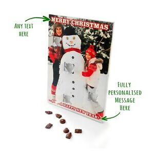Personalised Chocolate Advent Calendar - Your Own Photo and Christmas Message! U
