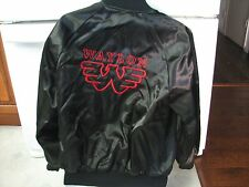 Waylon Jennings tour? style shiny satin look jacket vintage 1980s men's large