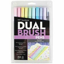 Tombow Dual Brush Pen Art Markers Pastel Palette 10-Pack - Pastels