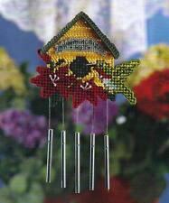 HUMMINGBIRD HUT WIND CHIME PLASTIC CANVAS PATTERN INSTRUCTIONS