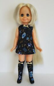VELVET DOLL CLOTHES Retro Dress and matching Boots HM Fashion NO DOLL dolls4emma