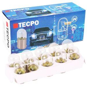 10x TECPO R5W Autolampe 12V 5W Kugel-Lampe BA15S Glüh-Birne Standlicht Rücklicht
