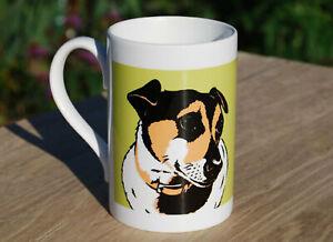Jack Russell porcelain single mug