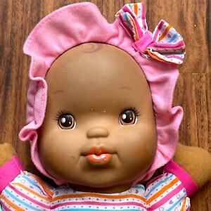 """Baby's First Kisses Doll 14"""" Pink Clothes Says I LOVE YOU WORKS EUC"""