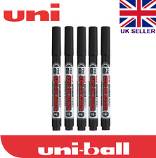 5 X Uni Super Ink Marker Black Permanent Cd Dvd Pna 125 Markersuper Inkblack