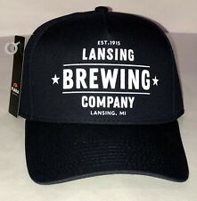 Lansing Brewing Company Navy and White Snap Back Hat