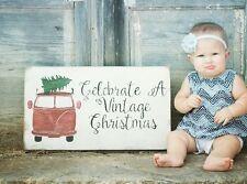 Celebrate A Vintage Christmas, Vintage Christmas Sign, Christmas Holiday Decor