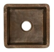 """Native Trails CPS234 Antique Copper Cantina 15"""" Single Basin Undermount Bar Sink"""