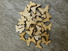 25x 2.5cm wooden butterfly craft blank embellishments