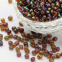50g Rainbow 4mm Glass Seed Beads for Craft Necklaces Bracelets FREE POSTAGE