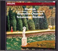 Sviatoslav RICHTER & BORODIN QUARTET: DVORAK Piano Quintet Op.5 & 81 PHILIPS CD