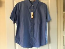 Ladies short sleeve blue shirt by Fruit if the Loom size XL NEW