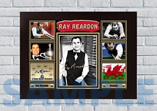 More details for ray reardon snooker a4/a3 - unframed/framed autograph gift #62 signed
