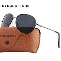 Pilot Driving Retro Metal SunGlasses UV400 Mens Classic Polarized Eyewear New