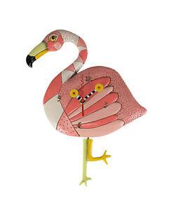 Allen Designs Crazy Legs Pink Flamingo Pendulum Wall Clock