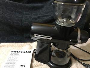 KitchenAid Artisan Burr Coffee Grinder Black - hardly used
