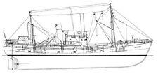 AACHEN BB 5 (1948), Fischdampfer. Modellbauplan RC Schiff