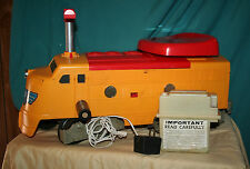 1969/1970 Remco Might Casey Ride 'Em Railroad ENGINE EUC w/ CHARGER CORD RED