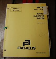 Fiat Allis 945 Wheel Loader Front End Service Repair Owner Shop Manual Book Tire