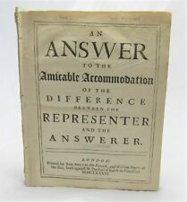 1686 WILLIAM SHERLOCK An Answer to the Amicable Accommodation by JOHN GOTHER